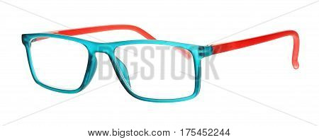 colorful eye glasses isolated on white background