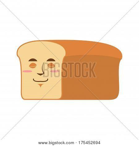 Bread Sleeping Emoji. Piece Of Bread Asleep Emotion Isolated