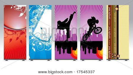 Roll up with elegant banner
