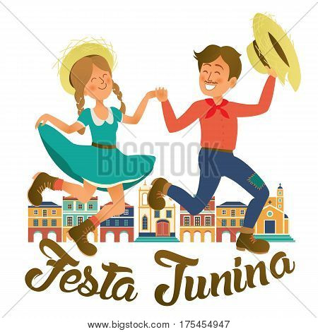 Festa Junina illustration - traditional Brazil June festival party. Vector illustration.