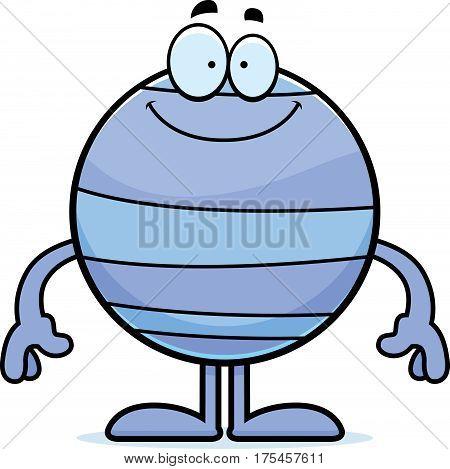 Happy Cartoon Neptune