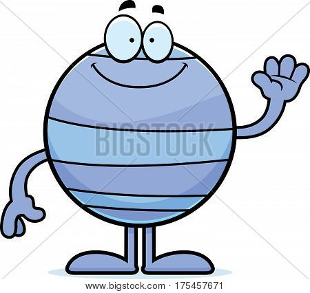 Cartoon Neptune Waving