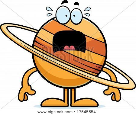 Scared Cartoon Saturn