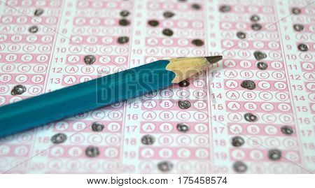 Exam optics, optical paper, student and exam optics paper, marked optical paper pictures, optical papers for educational sites