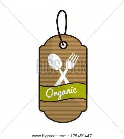 emblem vegetarian food icon stock, vector illustration design image