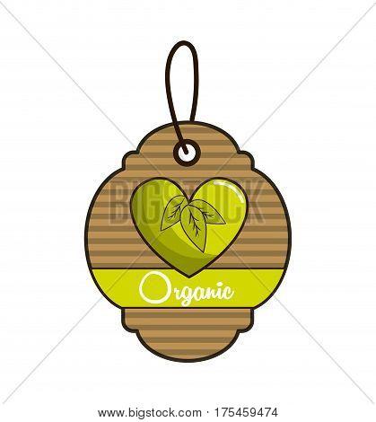 emblem biological food icon stock, vector illustration design image