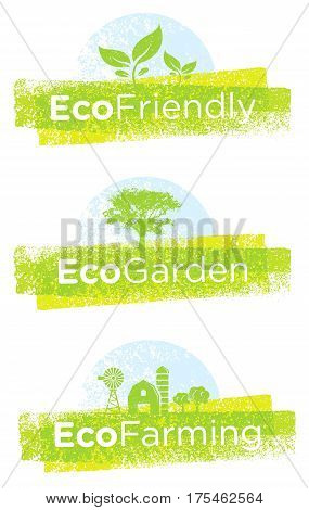 Go Green Recycle Reduce Reuse. Sustainable Eco Vector Concept on Recycled Paper Background