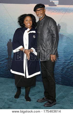 LaTanya Richardson and Samuel L. Jackson at the Los Angeles premiere of 'Kong: Skull Island' held at the El Capitan Theatre in Hollywood, USA on March 8, 2017.