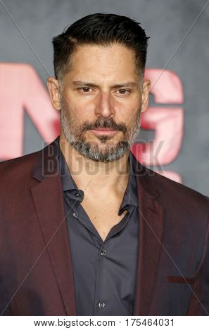 Joe Manganiello at the Los Angeles premiere of 'Kong: Skull Island' held at the El Capitan Theatre in Hollywood, USA on March 8, 2017.