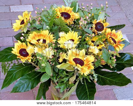 The bouquet of sunflower in Or Yehuda Israel July 21 2010