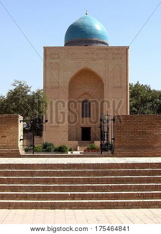 The entrance of Bibi-Khanim Mausoleum in Samarkand Uzbekistan Historic buildings