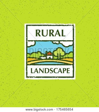 Agriculture and Farming. Agribusiness. Rural landscape. Design elements for info graphic, websites and print media. Vector illustration.