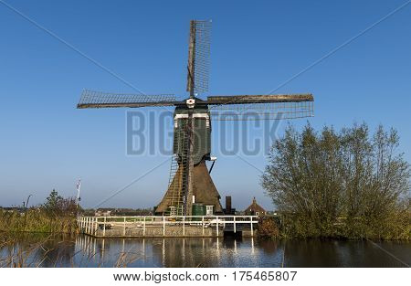 Achterlandse mill at Groot-Ammers province Zuid-Holland in the Netherlands