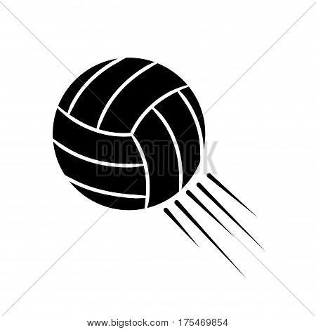 contour ball to play volleyball icon, vector illustraction design