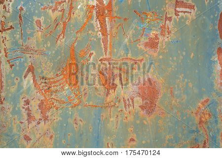 old metal surface rust damaged weathered grunge texture