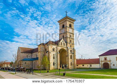 St Michael's Roman Catholic Cathedral in Alba Iulia Transylvania Romania