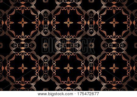 abstract symmetrical gold openwork pattern of ethnic style Victorian