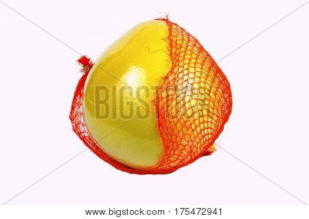 close up from Pomelo isolated on white background