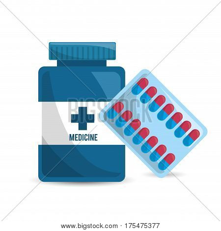 pharmaceutical drugs and medications icon, vector illustraction design