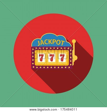 jackpot on a slot machine , flat icon vector