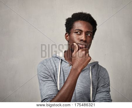 Thinking black man