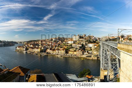 View of the bridge of Louis I in Porto, Portugal