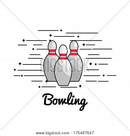 symbol bowling play icon, vector illustraction design