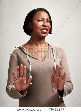 unfriendly black woman