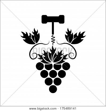 grape with take out cork icon, vector illustration design