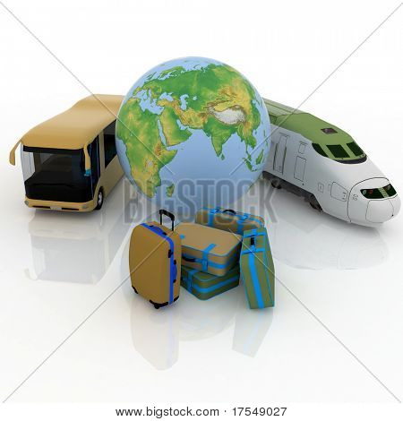 types of above-ground passenger transport and globe