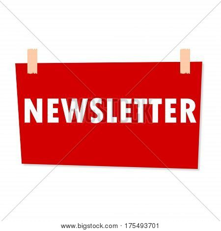 Newsletter Sign - illustration on white background
