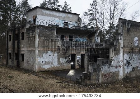 Graffitis in an old abandoned military complex