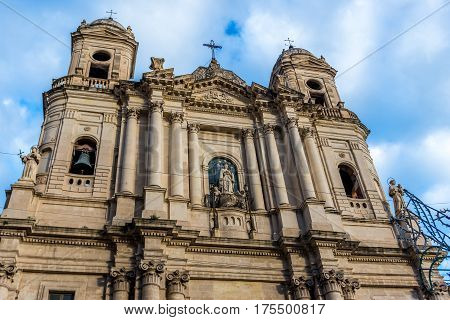 Church of Saint Francis in Catania on the island of Sicily Italy
