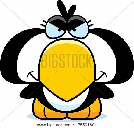 Cartoon Devious Penguin