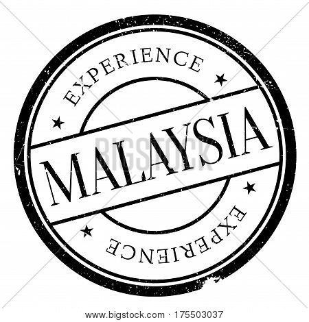 Malaysia rubber stamp. Grunge design with dust scratches. Effects can be easily removed for a clean, crisp look. Color is easily changed.