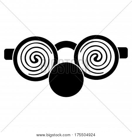clown glasses and nose pictogram vector illustration eps 10