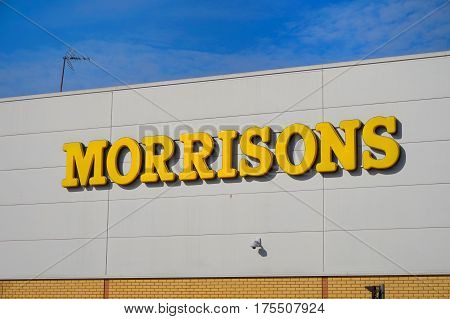 Basingstoke, Uk - March 9Th 2017: Exterior Of The Morrisons Supermarket. Morrisons Is A Leading Uk F