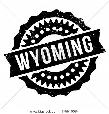 Wyoming rubber stamp. Grunge design with dust scratches. Effects can be easily removed for a clean, crisp look. Color is easily changed.