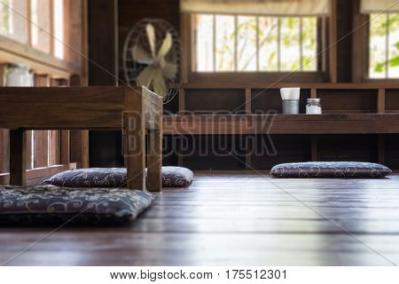 Vintage Retro Wooden Oriental House stock photo