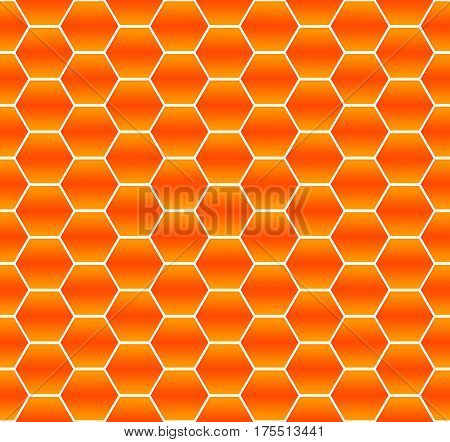 seamless orange abstract pattern of hexagons Hexagon geometry abstract background