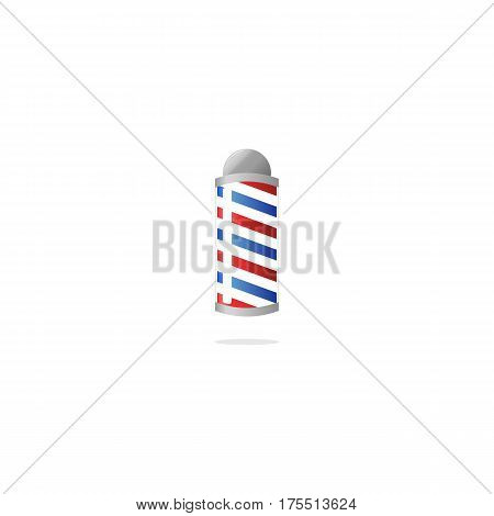 Flat Barbershop Sign Lamp Vector. Isolated on White.