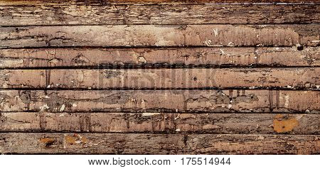 Wooden background, wooden texture. Fragment of old wooden wall. Grunge wood background.