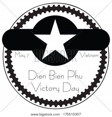 Dien Bien Phu Victory Day - may 7 Vietnam. Stamp