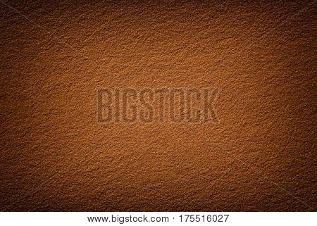 Background texture of terra desert sand with Vignette. Real seamless sand dune surface at sunset in Sahara desert