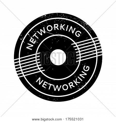 Networking rubber stamp. Grunge design with dust scratches. Effects can be easily removed for a clean, crisp look. Color is easily changed.