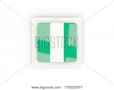 Square Carbon Icon With Flag Of Nigeria