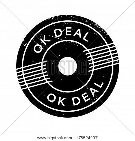 Ok Deal rubber stamp. Grunge design with dust scratches. Effects can be easily removed for a clean, crisp look. Color is easily changed.