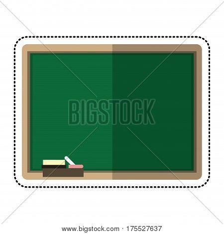 cartoon chalkboard eraser white chalk vector illustration eps 10