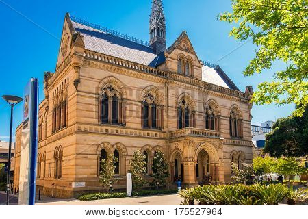 Adelaide Australia - November 11 2016: The University of Adelaide - Mitchell Building on North Terrace in Adelaide CBD on a day