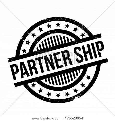 Partner Ship rubber stamp. Grunge design with dust scratches. Effects can be easily removed for a clean, crisp look. Color is easily changed.